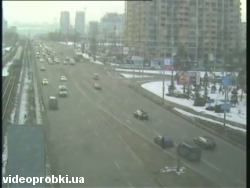 Car crash at Brovarskyi Avenue - Stroitelej St. (photo)