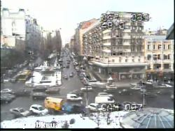 Car crash at Bessarabska Square (photo)