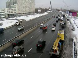 Car crash at Moskovskyi Ave, entrance to the Moskovskyi bridge (photo)