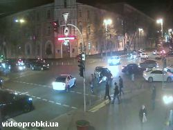 Car crash at Velyka Zhytomyrs`ka St - Volodymyrs`ka St (photo)