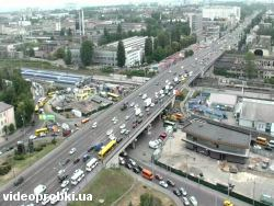 Car crash at Prospekt Pobedy - square Heroes of Brest (photo)