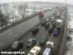 Car crash at Moskovskyj bridge (photo)