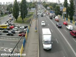 Car crash at Povitroflotskyj bridge (photo)