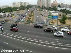 Car crash at Moskovskyj Avenue - Heroiv Stalingradu Avenue (photo)