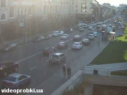 Car crash at Poshtova Sq, Naberezhne avenue (photo)